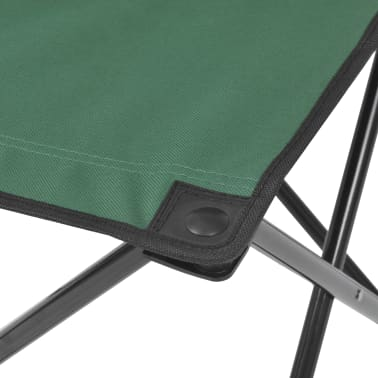 vidaXL Folding Camping Furniture Set 5 Pieces Green Steel 45x45x70 cm[7/10]