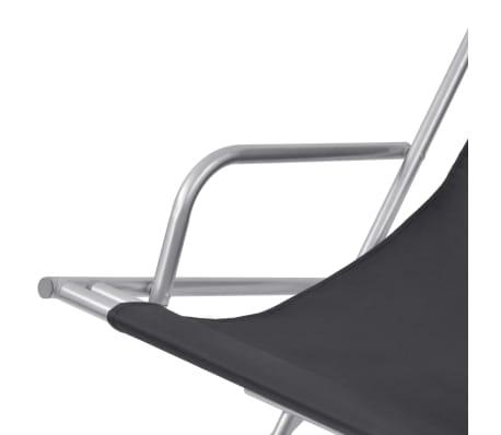 vidaXL Nastavljivi stoli 2 kosa jeklo črni[5/9]