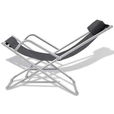 vidaXL Nastavljivi stoli 2 kosa jeklo črni[3/9]