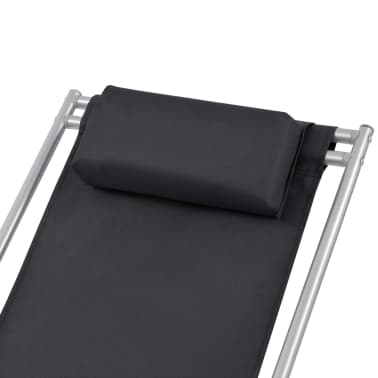 vidaXL Nastavljivi stoli 2 kosa jeklo črni[4/9]