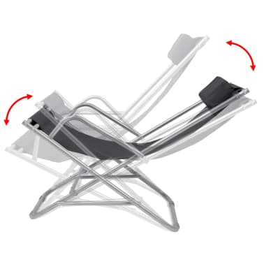 vidaXL Nastavljivi stoli 2 kosa jeklo črni[7/9]