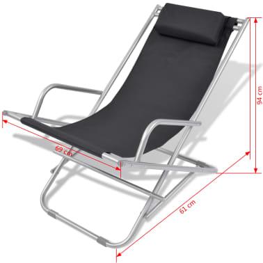 vidaXL Nastavljivi stoli 2 kosa jeklo črni[9/9]