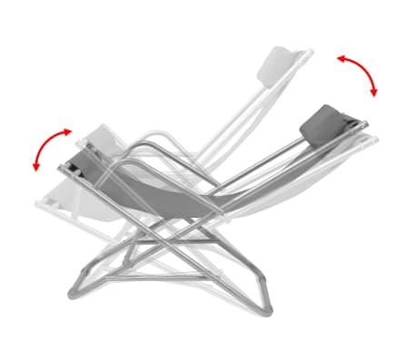vidaXL Nastavljivi ležalniki 2 kosa jeklo sivi[7/9]