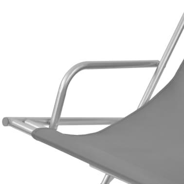 vidaXL Nastavljivi ležalniki 2 kosa jeklo sivi[5/9]