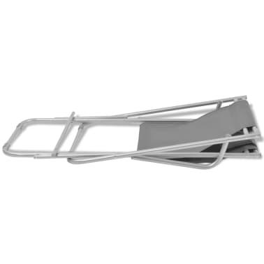 vidaXL Tumbonas reclinables 2 unidades acero gris[8/9]