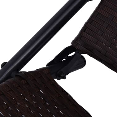 vidaXL Chaise longue pliable Rotin synthétique Marron[5/6]