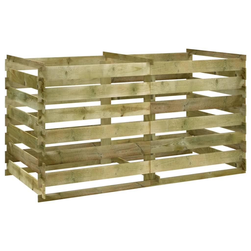 Laťkový kompostér impregnovaná borovice 160 x 80 x 58 cm