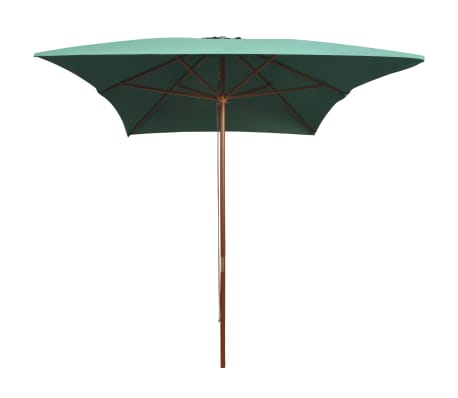 vidaXL parasol 200 x 300 cm træstang grøn[2/6]