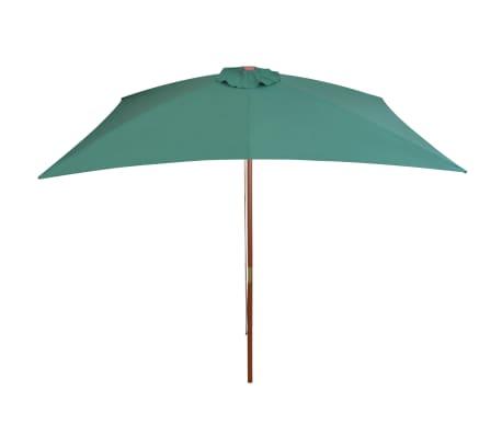 vidaXL parasol 200 x 300 cm træstang grøn[3/6]
