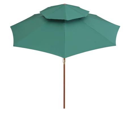 acheter vidaxl parasol de terrasse 270 x 270 cm poteau en bois vert pas cher. Black Bedroom Furniture Sets. Home Design Ideas