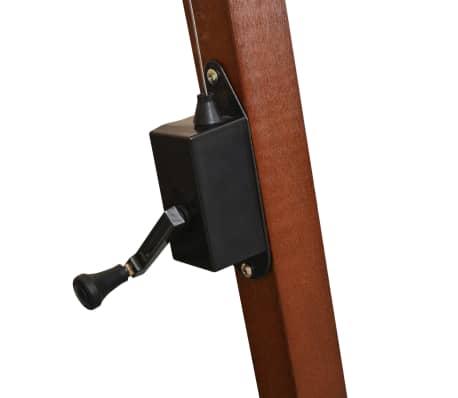 vidaXL Zweefparasol met houten paal 300x300 cm wit[5/8]