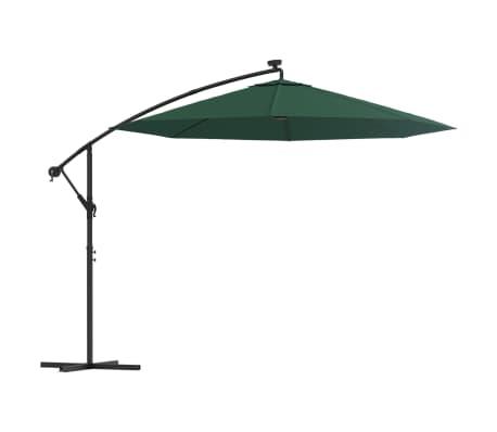 vidaxl sonnenschirm ampelschirm mit led beleuchtung 300 cm. Black Bedroom Furniture Sets. Home Design Ideas