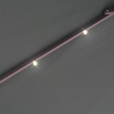 Acheter vidaxl parasol avec clairage led 300 cm poteau en for Poteau led exterieur