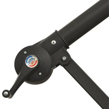 vidaXL hængeparasol med LED-belysning 300 cm sandfarvet metalstang[9/13]