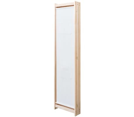 vidaXL 3-Panel Room Divider Cream 120x170x4 cm Fabric[3/5]