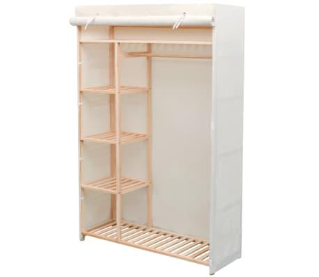 acheter vidaxl garde robe en tissu et bois de pin 110 x 40. Black Bedroom Furniture Sets. Home Design Ideas