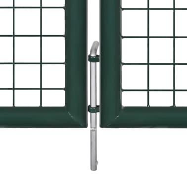 vidaXL Brama ogrodzeniowa 289x100 cm / 306x150 cm stalowa, zieleń[5/9]