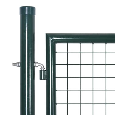 "vidaXL Garden Fence Gate 33.7""x78.7""/39.4""x98.4"" Steel Green[3/7]"