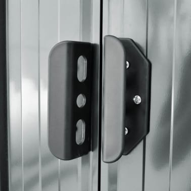 vidaXL Tuinhuis 204x132x186 cm grijs metaal[5/8]