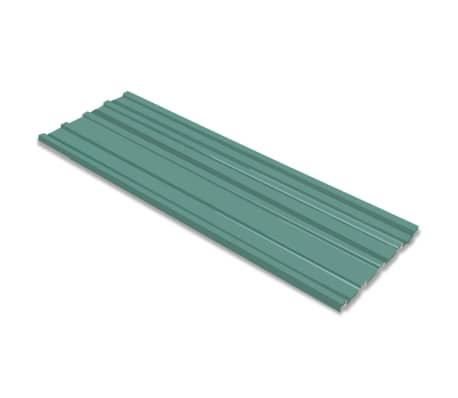 vidaXL Strešni paneli 12 kosov pocinkano jeklo zeleni[1/4]