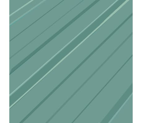 vidaXL Takpanel 12 st galvaniserat stål grön[3/4]