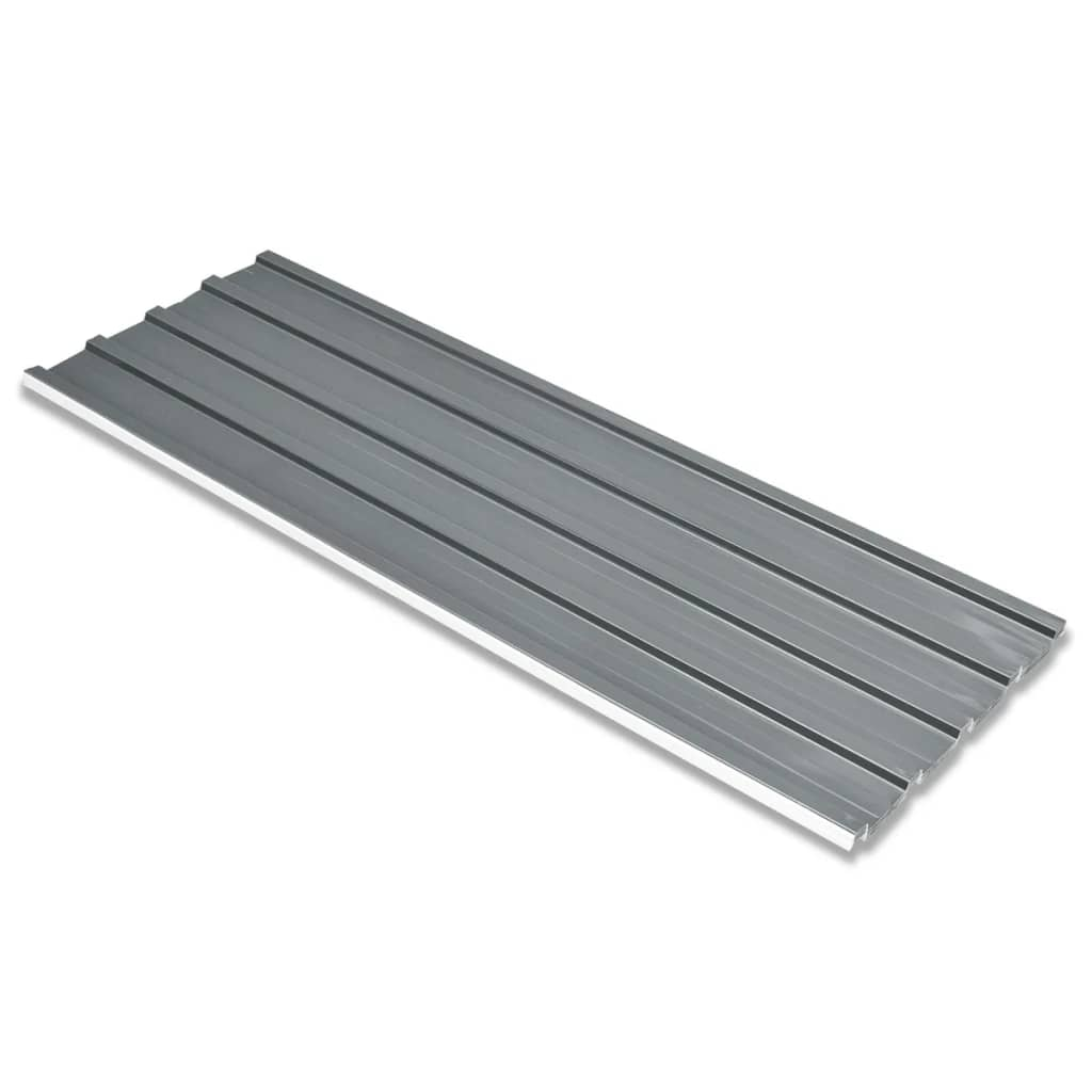 Střešní panely 12 ks pozinkovaná ocel šedé