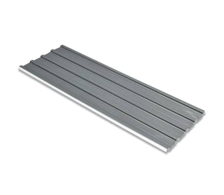 vidaXL Roof Panels 12 pcs Galvanised Steel Grey