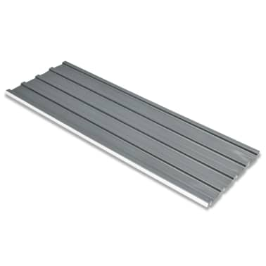 vidaXL Takpanel 12 st galvaniserat stål grå[1/4]
