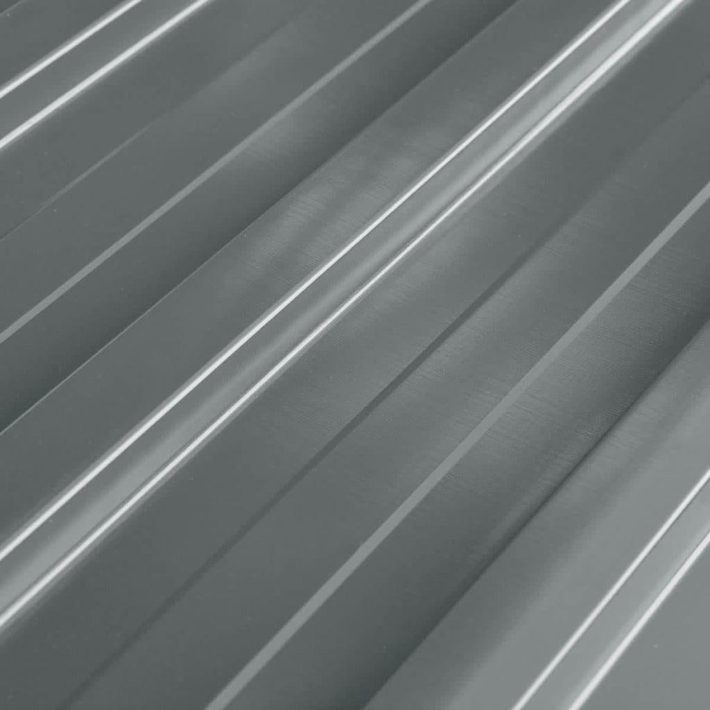 Comwinkel vidaXL Dakpanelen gegalvaniseerd staal grijs 12st