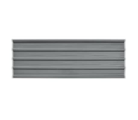 vidaXL Takpanel 12 st galvaniserat stål grå[2/4]