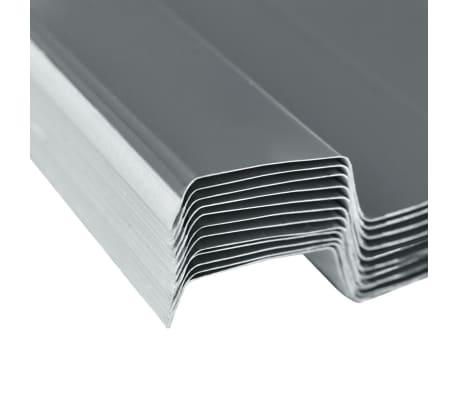 vidaXL Takpanel 12 st galvaniserat stål grå[4/4]