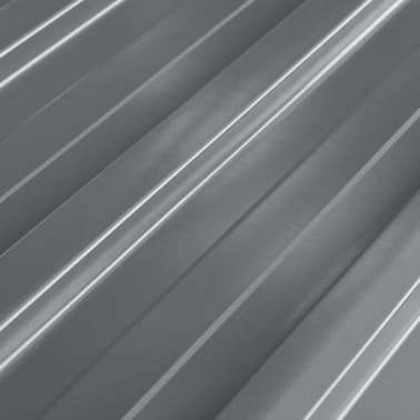 vidaXL Takpanel 12 st galvaniserat stål grå[3/4]
