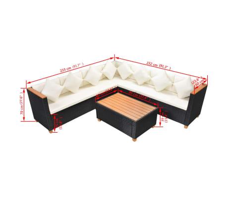 vidaXL 25-dielna záhradná sedacia polyratanová súprava, vrch z WPC, čierna[9/9]