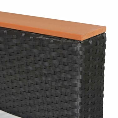 vidaXL 25-dielna záhradná sedacia polyratanová súprava, vrch z WPC, čierna[8/9]