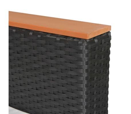 vidaXL Mobilier de jardin 7 pcs avec coussins Résine tressée Noir[10/11]