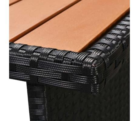 vidaXL Loungegrupp för trädgården med dynor 5 delar konstrotting svart[10/11]