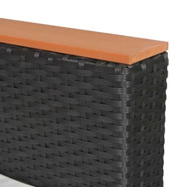 vidaXL Loungegrupp för trädgården med dynor 5 delar konstrotting svart[9/11]