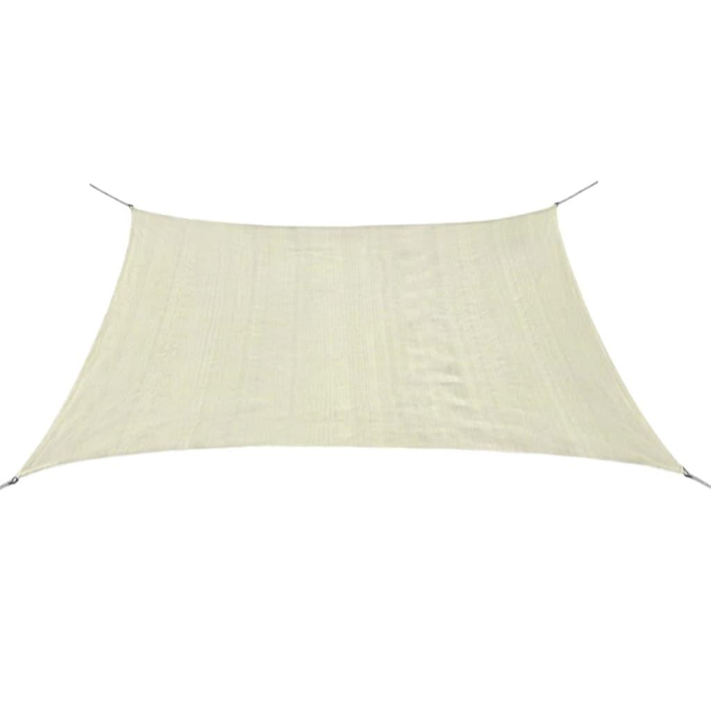 vidaXL Pânză parasolar din HDPE pătrată, 2 x 2 m, crem poza vidaxl.ro