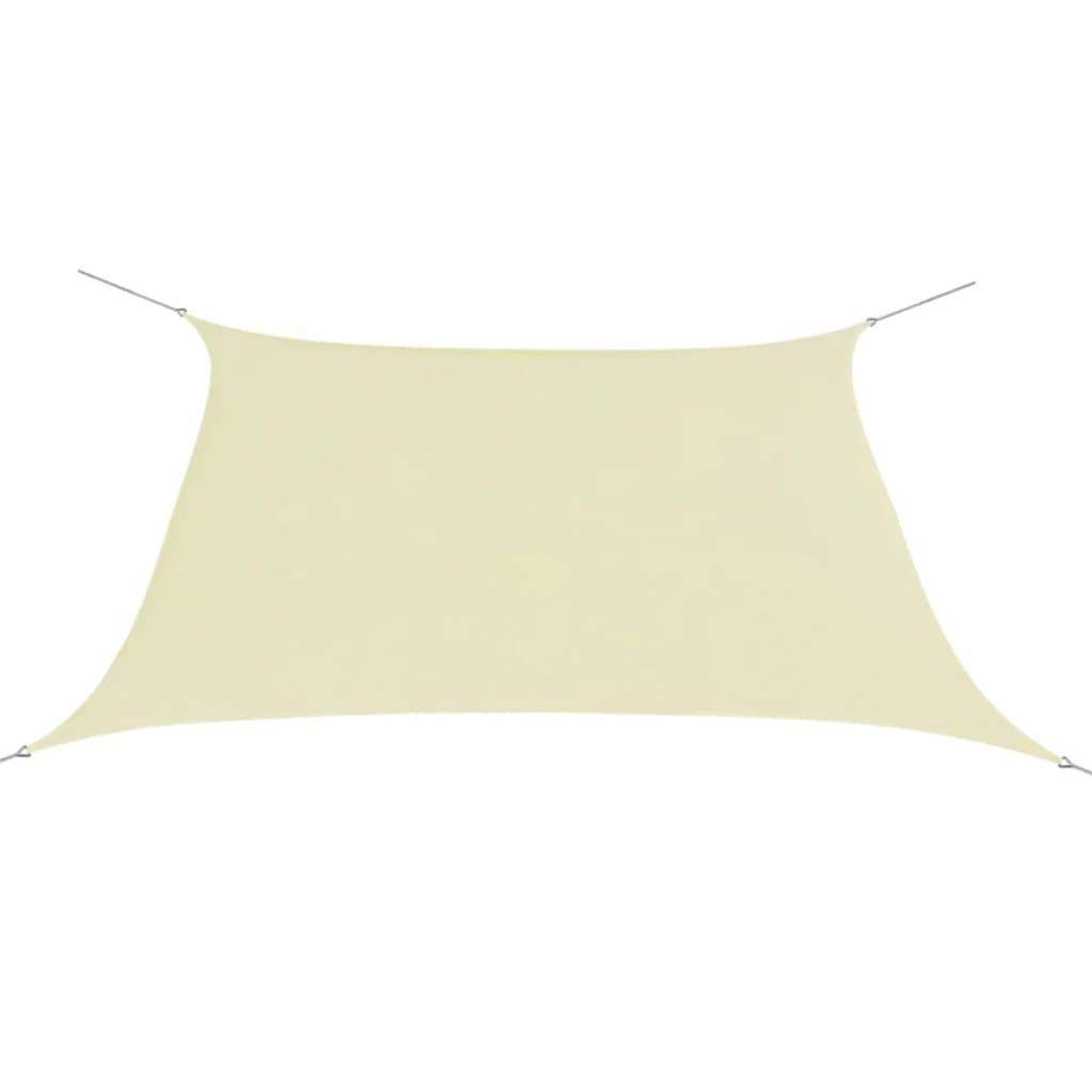 vidaXL Plachta proti slunci z oxfordské látky čtvercová 2x2 m krémová