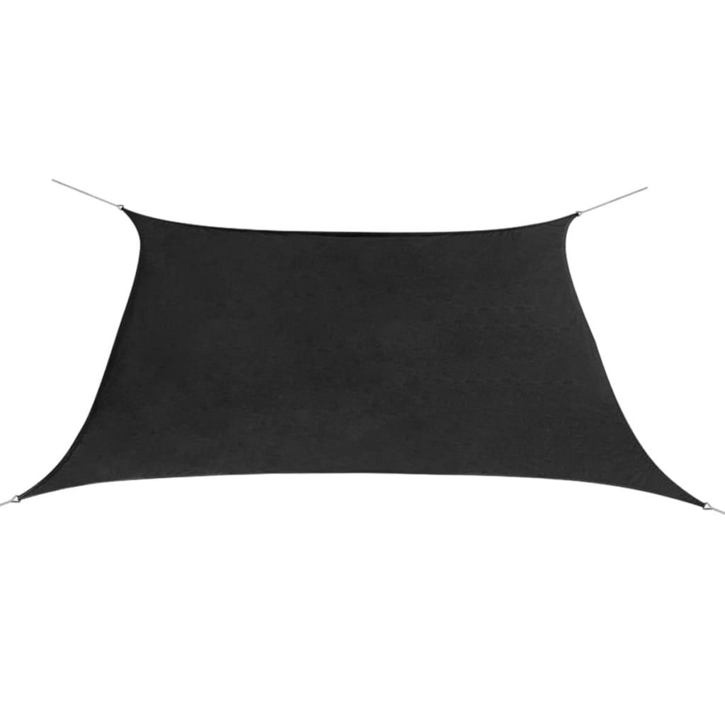 Plachta proti slunci oxfordská látka čtvercová 2x2m antracitová