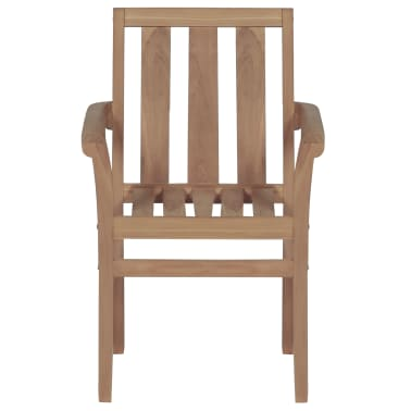 vidaXL Stackable Garden Chairs 2 pcs Solid Teak Wood[3/8]