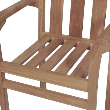 vidaXL Stackable Garden Chairs 2 pcs Solid Teak Wood[7/8]
