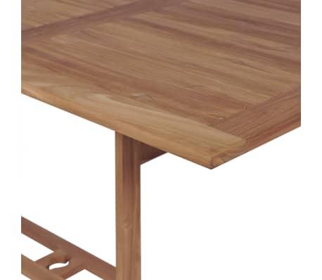 vidaXL Meuble à dîner de jardin 9 pcs et chaises pliables Teck solide[3/16]