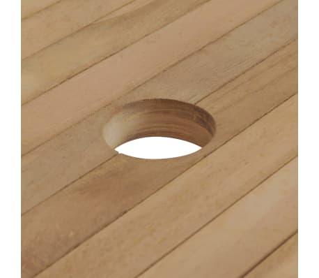 vidaXL Meuble à dîner de jardin 9 pcs et chaises pliables Teck solide[4/16]