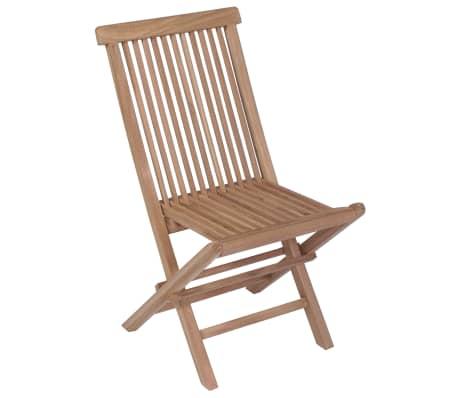 vidaXL Meuble à dîner de jardin 9 pcs et chaises pliables Teck solide[8/16]
