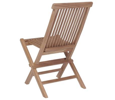 vidaXL Meuble à dîner de jardin 9 pcs et chaises pliables Teck solide[9/16]