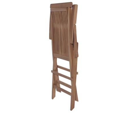vidaXL Meuble à dîner de jardin 9 pcs et chaises pliables Teck solide[10/16]