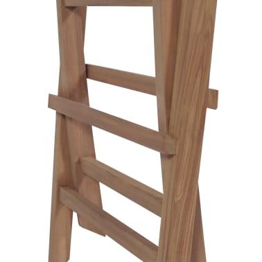 vidaXL Meuble à dîner de jardin 9 pcs et chaises pliables Teck solide[11/16]