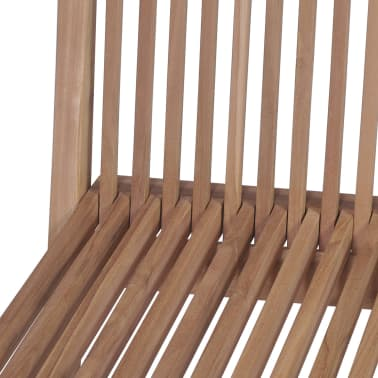 vidaXL Meuble à dîner de jardin 9 pcs et chaises pliables Teck solide[12/16]