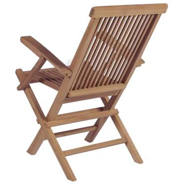 vidaXL Meuble à dîner de jardin 9 pcs et chaises pliables Teck solide[7/16]